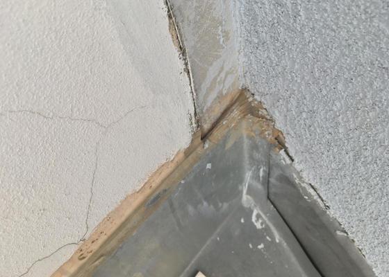 Oprava zatékání střechy u půdního bytu