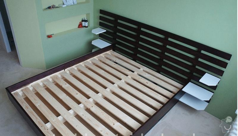 Vyroba zvysene postele a vystavene skrine: zvysena_postel