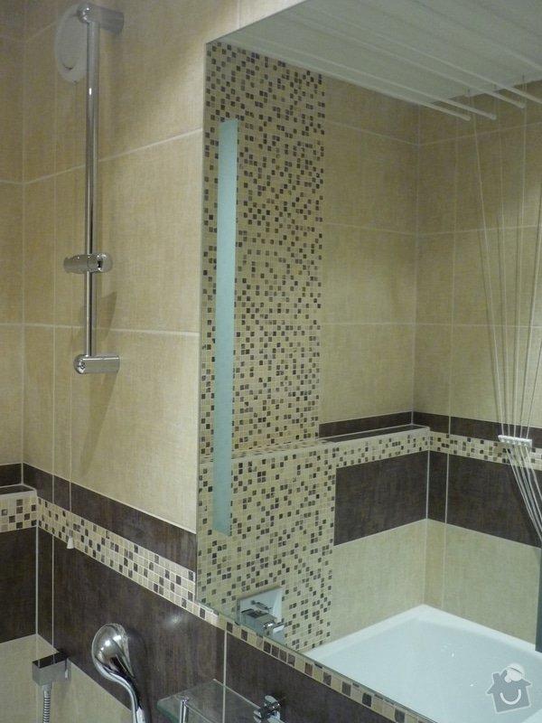 Rekonstrukce koupelny, wc: Montáž zrcadla