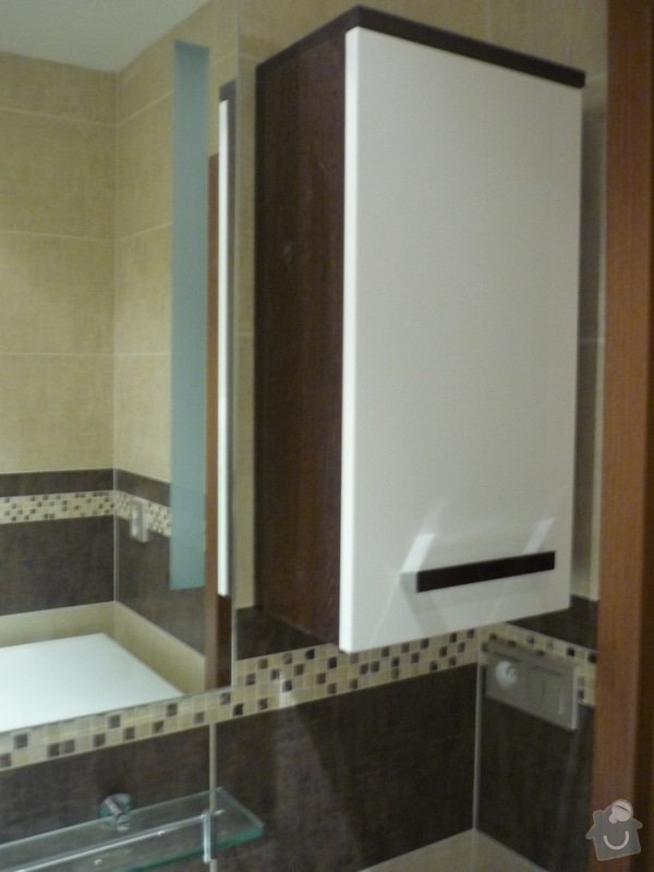 Rekonstrukce koupelny, wc: Montáž koupelnového nábytku
