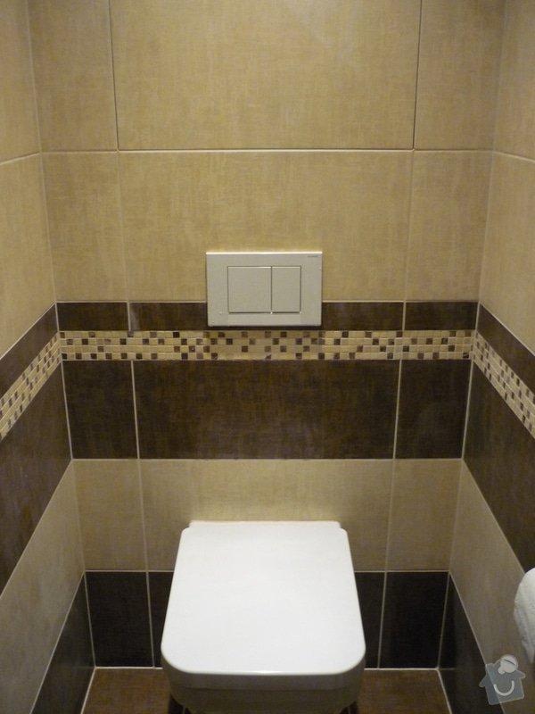 Rekonstrukce koupelny, wc: Podomítkové systém WC