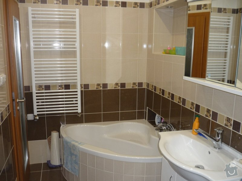 Rekonstrukce koupelny, wc, kuchyně: Koupelna po rekonstrukci.