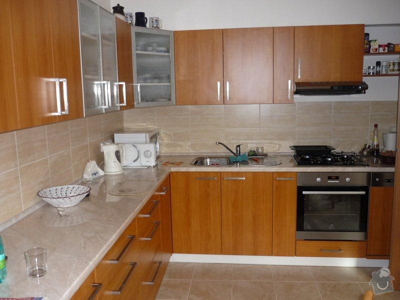Rekonstrukce koupelny, wc, kuchyně: Kuchyně po rekonstrukci.