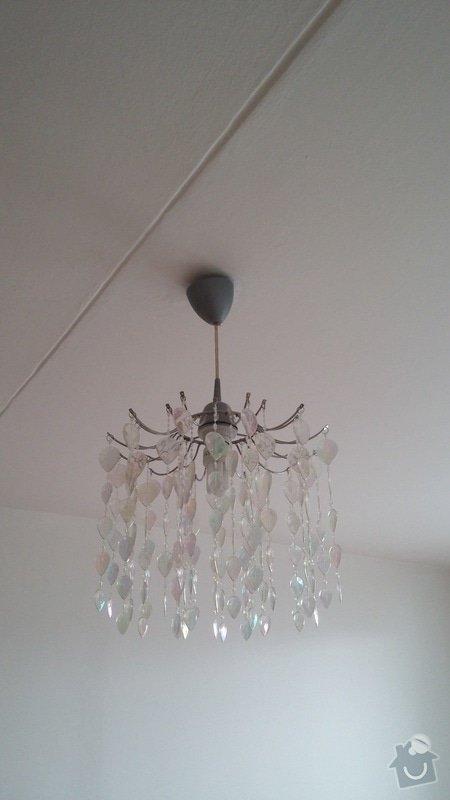 Instalace stropního osvětlení (2x): svetlo_loznice