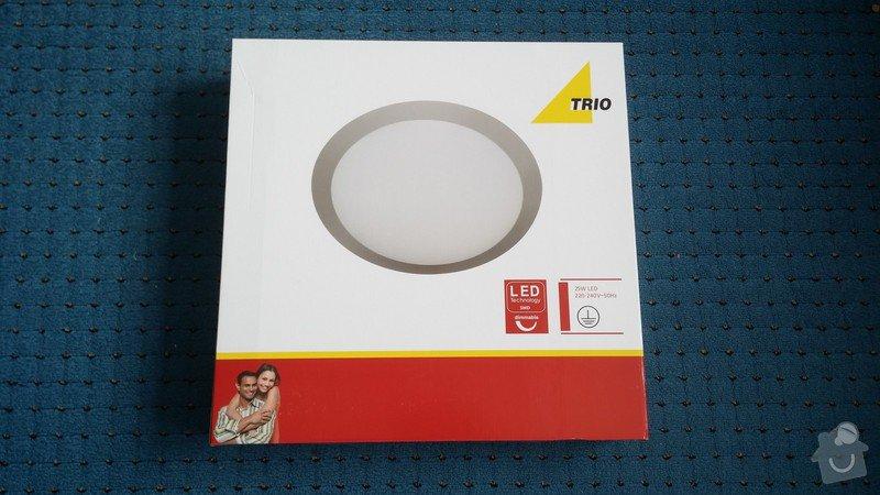 Instalace stropního osvětlení (2x): stropni