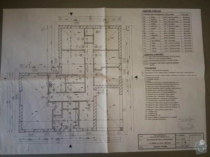 Podlahové teplovodní topení: RD_JIřice_-_půdorys
