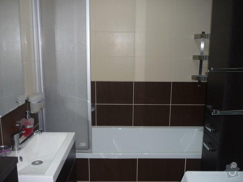 Rekonstrukce koupelny a WC: Celkový pohled do koupelny po rekonstrukci