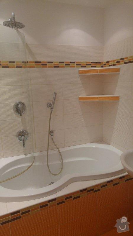 Rekonstrukce koupelny a WC: Montáž a obložení rohových poliček
