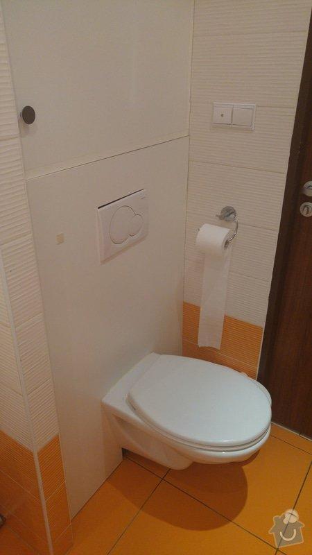 Rekonstrukce koupelny a WC: Podomítkový systém WC