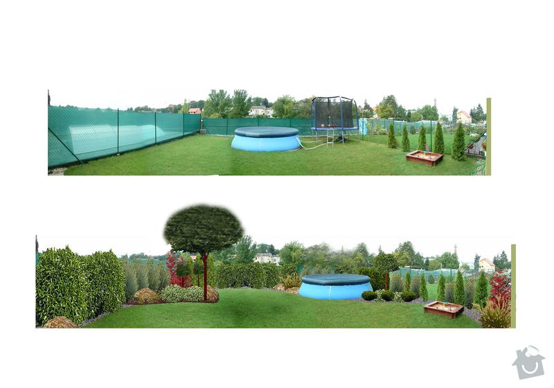 Realizace zahrad: vizualizace