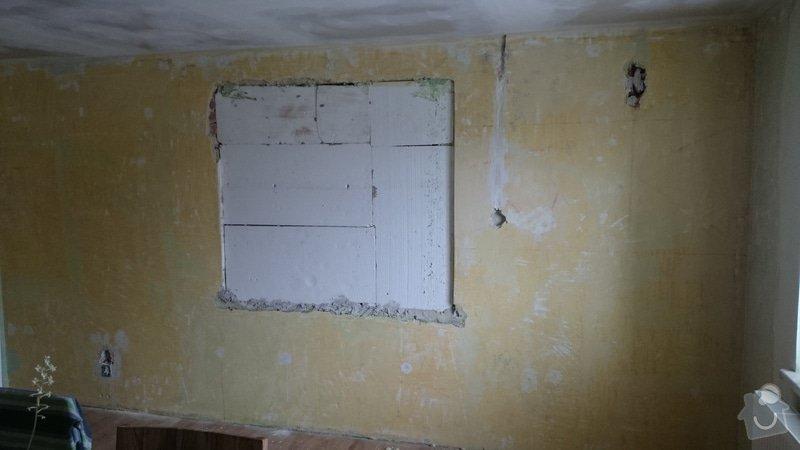 Zednické práce - dozdění okna + štuková omítka: DSC_0082
