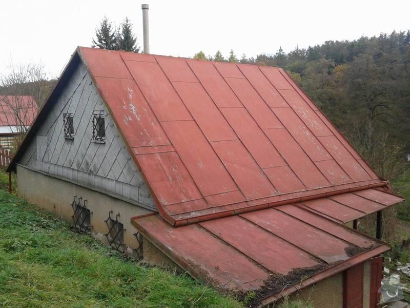 Rekonstrukce střechy s novou nadkrokevní izolací PIR: strecha1