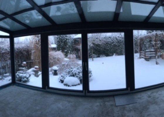 Zvýšení podlahy v zimní zahradě + položení dlažby