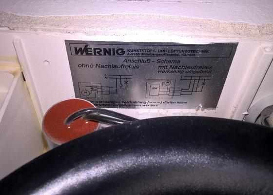 Servis ventilátoru v koupelně a na WC - porucha (možná v elektrice?)