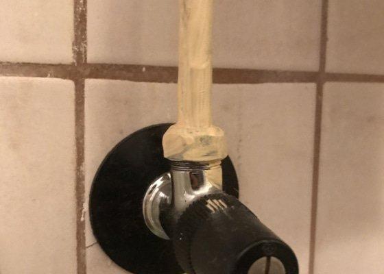 Výměna sprchového koutu, kontrola hadic připojení vody, oprava odpadového potrubí wc