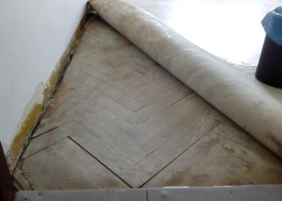 Renovace parketové podlahy, 50m2