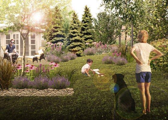 Vizualizace budoucí podoby zahrady