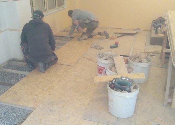 Vyrovnání podlahy osb deskami, pokládka plovoucí podlahy