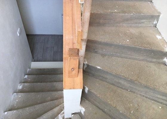 Obklad betonového monolitu schodiště a případně i nerezové zábradlí