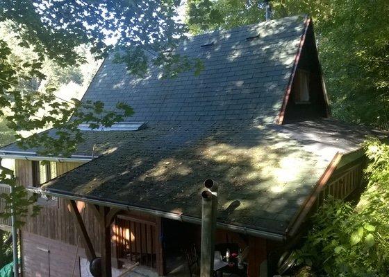 Zvětšení chaty a střecha