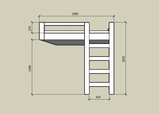 Zavesena patrova postel