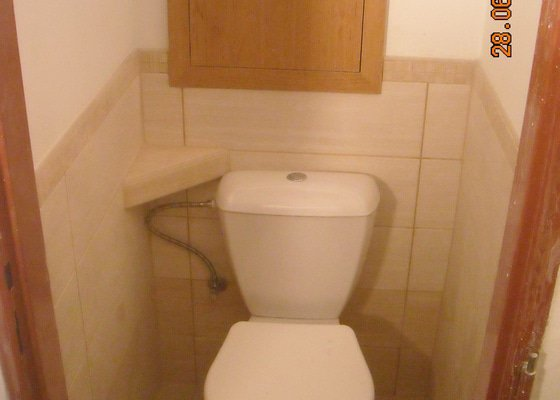 Rekonstrukce koupelny a wc v bytě