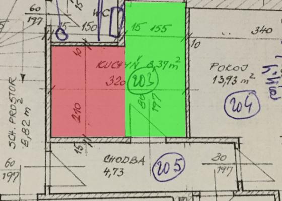 Návrh kuchyňo-koupelny