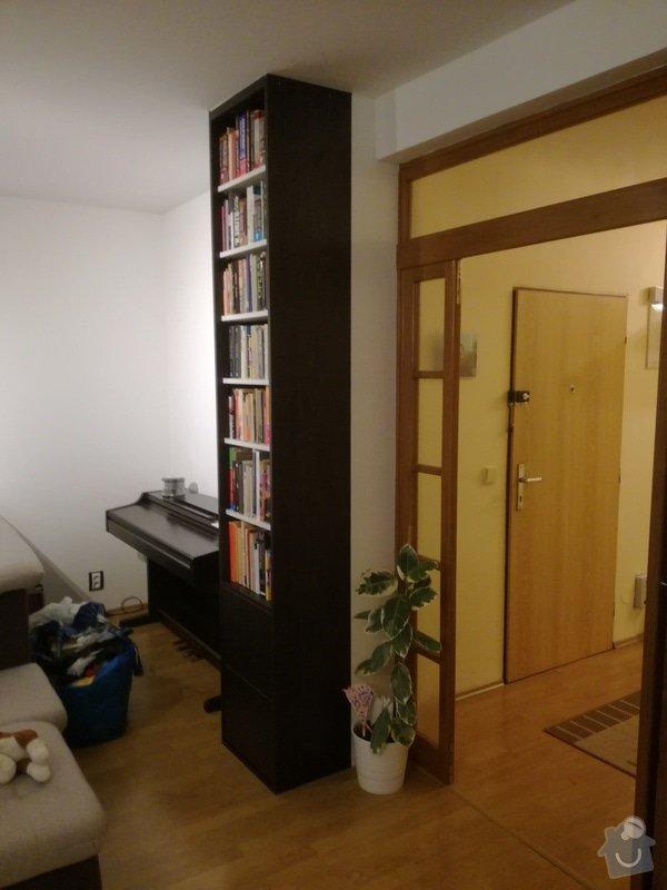 Nábytek na míru: úzká vysoká knihovna + vestavná policová skříň pod točité schody: IMG_20170415_201353