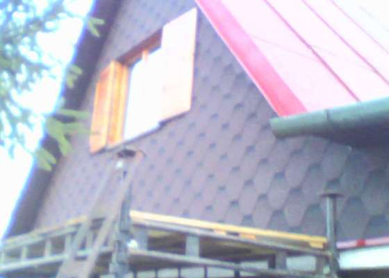 Obložení dřevěných štítů chaty