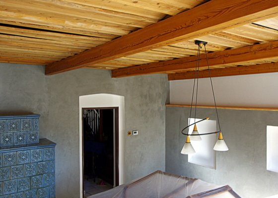 Výmalba rodinného domu + dekorativní stěrka