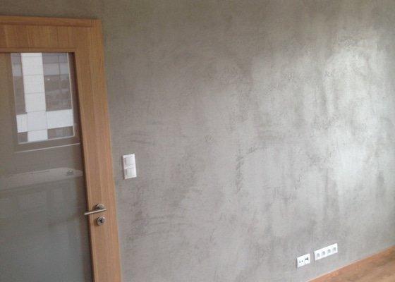 Imitace pohledového betonu 13 m2