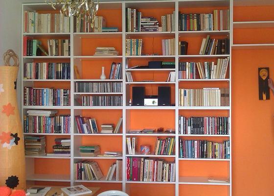 Police - knihovna - obývací stěna v jednom