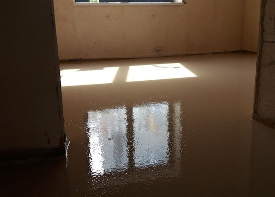 Anhydrit podlaha 60m2