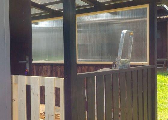 Venkovní zastřešenou verandu