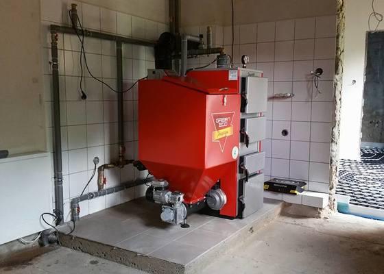 Dodávka automatického kotle + topení