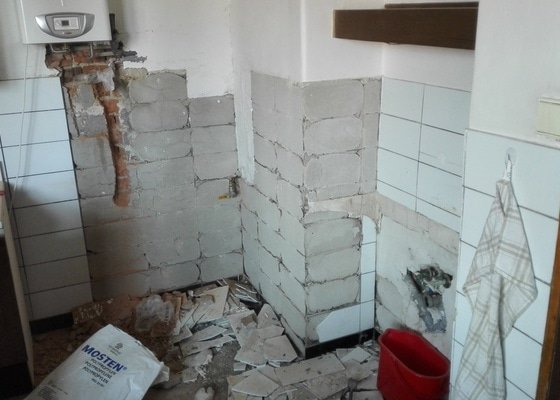 Vodoinstalace - přívod vody a odpad (kuchyň)