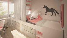Návrh interiéru - malý dětský pokoj pro kluka a holku