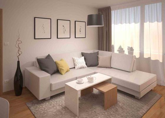Návrh obývacího pokoje s jídelním koutem