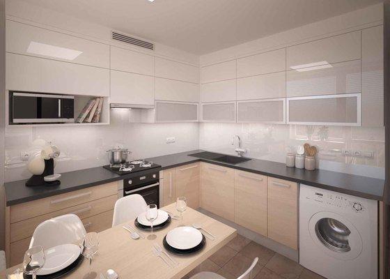 Návrh rekonstrukce menšího bytu ve světlých barvách