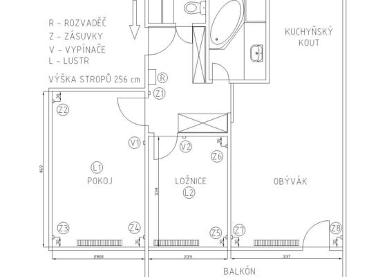 Rekonstrukce elektroinstalace 3 pokoje