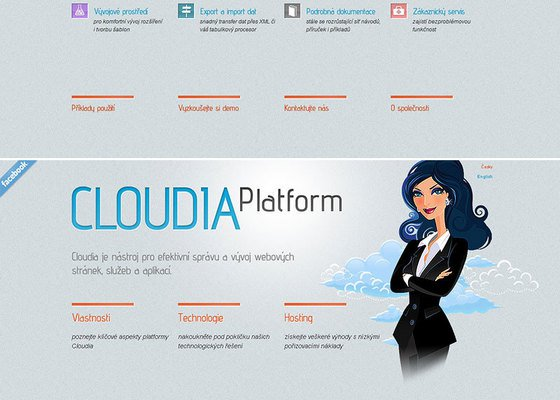 Web design Cloudia.cz