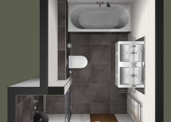 Pokladka dlazby + obklad koupelny a WC