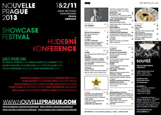 Public Relation pro festival Nouvelle Prague