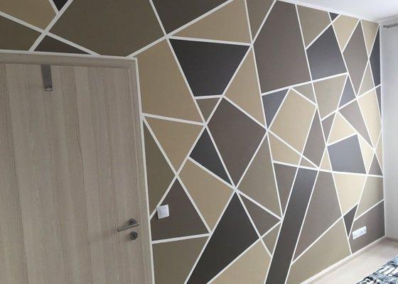 Malířské práce - 1 pokoj, chodba a 2 stěny v ostatních pokojích