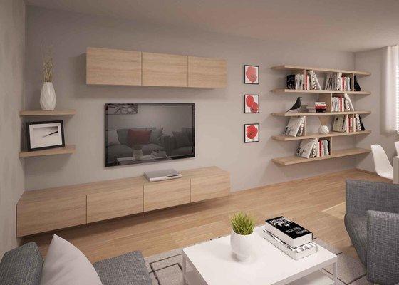 Návrh kompletní rekonstrukce panelákového bytu 3+1
