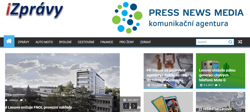 PR články - kampaň : iZprávy.com