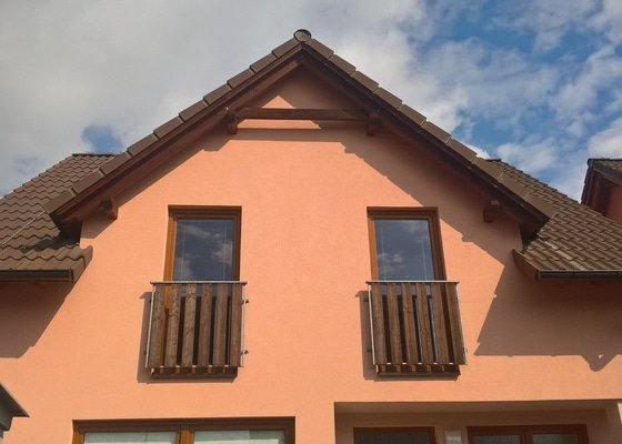 Impregnace trámů střechy