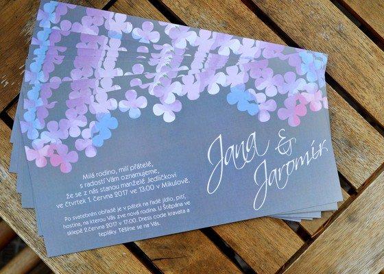 Návrh a tisk svatebního oznámení