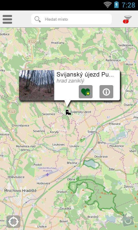 Mobilní aplikace pro server  : místo a detail