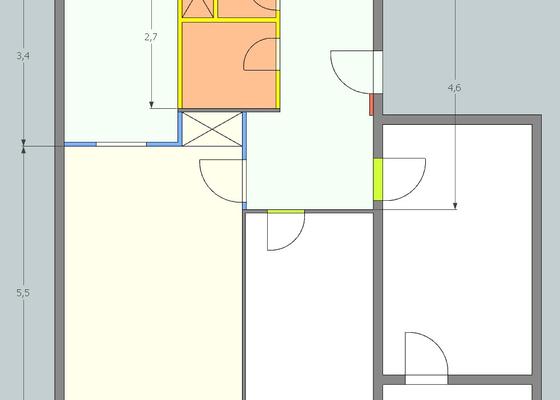 Rekonstrukce panelového bytu Praha 4 - Chodov